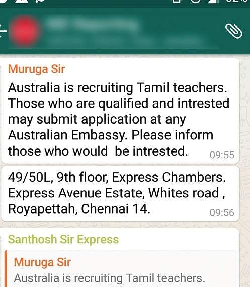 No Australia Is Not Recruiting Tamil Teachers As Yet The New