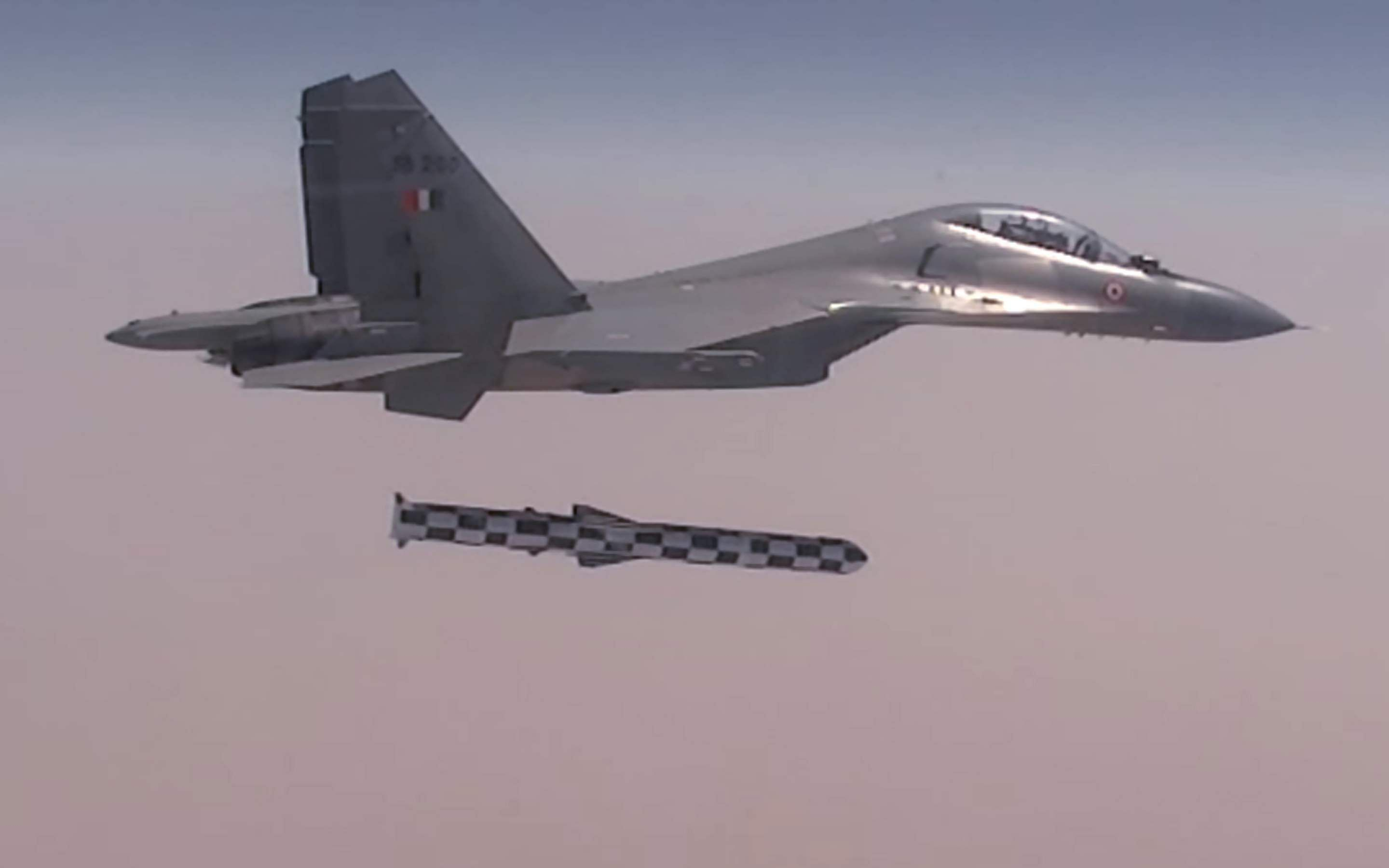 BrahMos ALCM being fired from Sukhoi-30 MKI