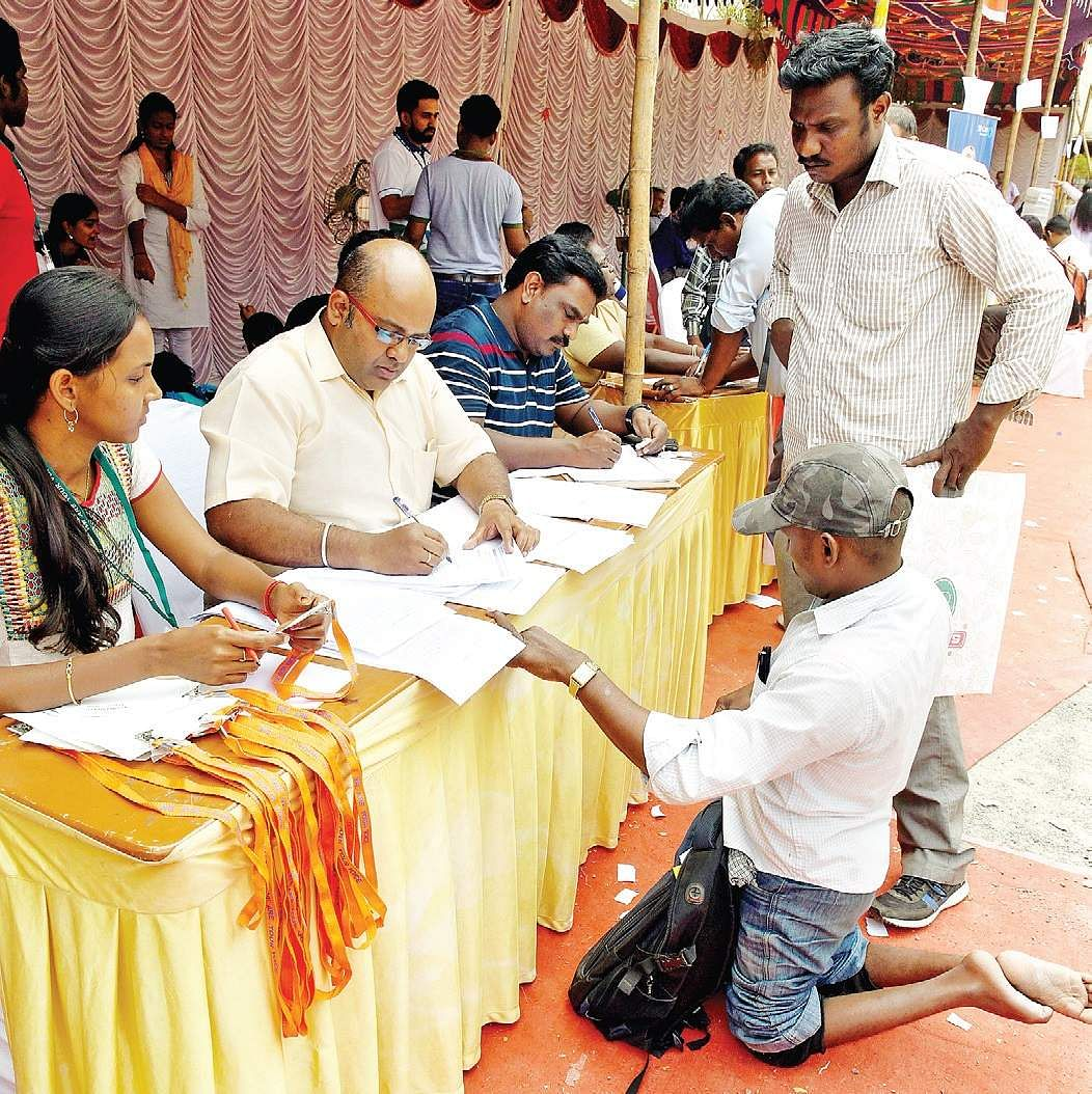 4k diffabled take part in career fair
