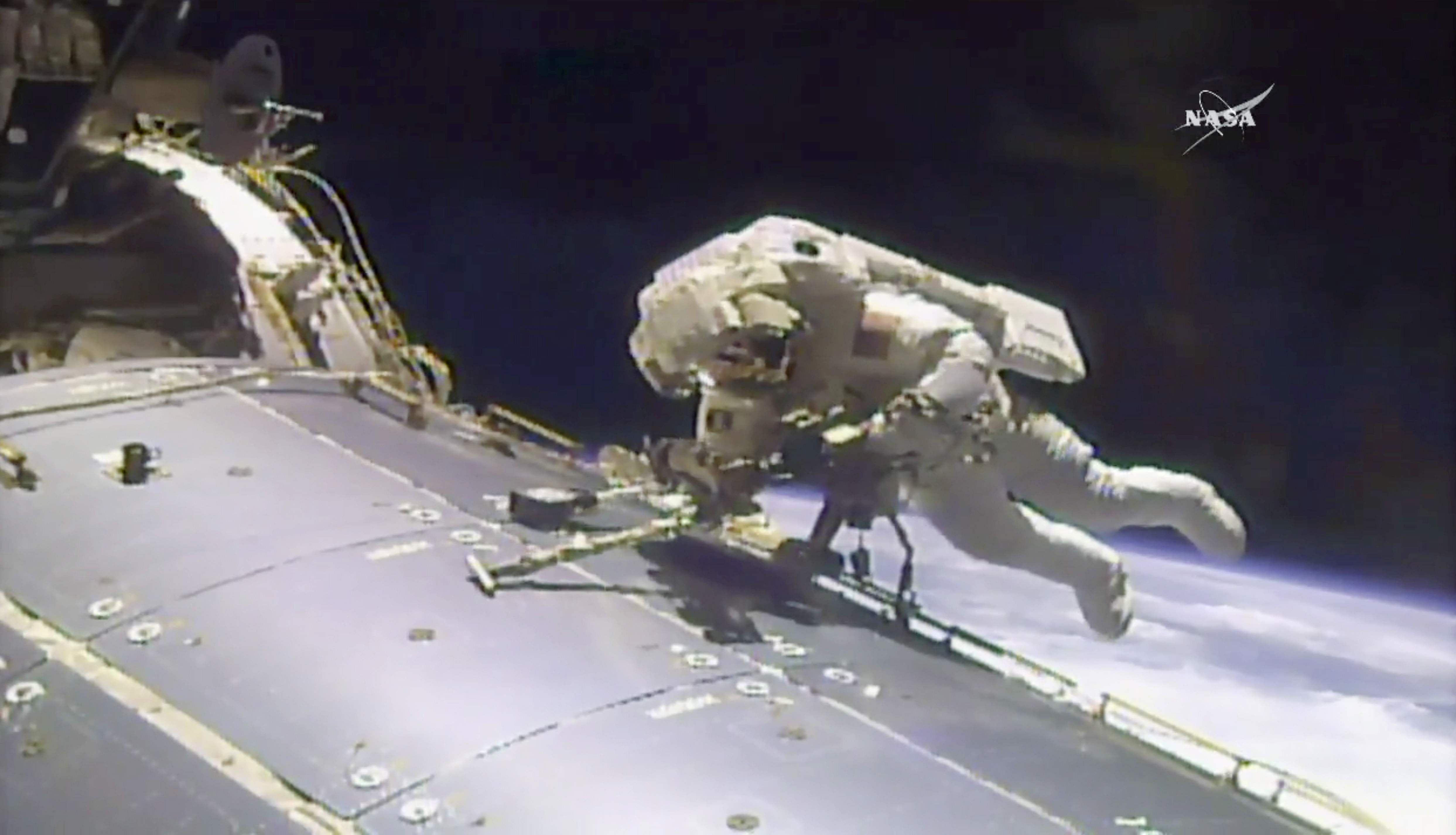 US astronauts conduct 200th spacewalk - The New Indian ...
