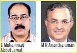 E Muhammad Abdul Jamal and M R Anantharaman. Image Credits / newindianexpress.com