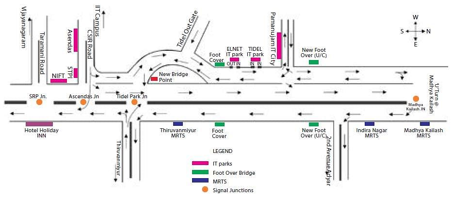 New traffic plan on trial from tomorrow to omr congestion - Traffic planning and design layoffs ...