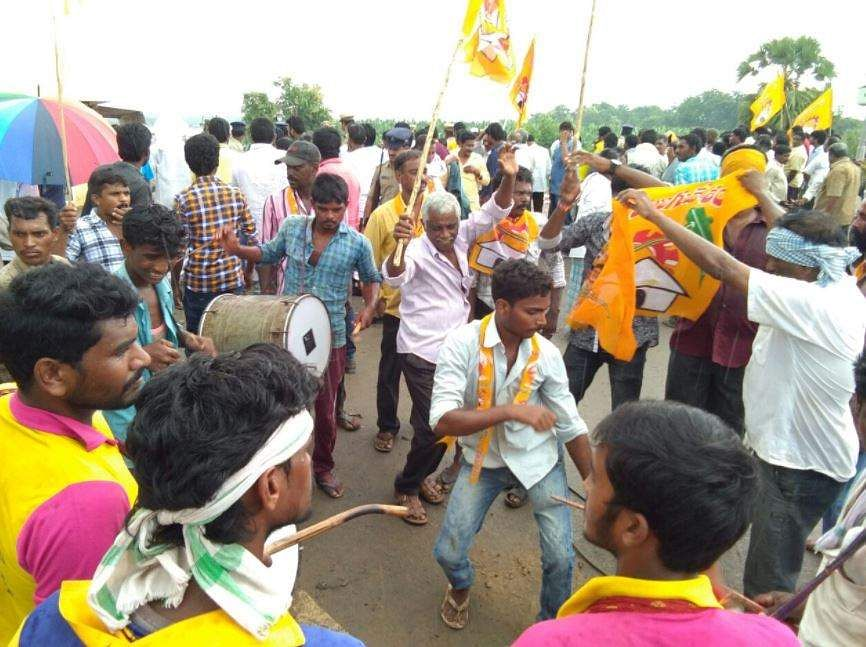 TDP supporters celebrate anticipated victory. (Express Photo Service). Tweeting after the Nandyal result ...