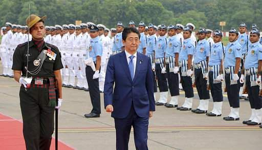 Image result for Japanese PM Shinzo reach Sabarmati Ashram