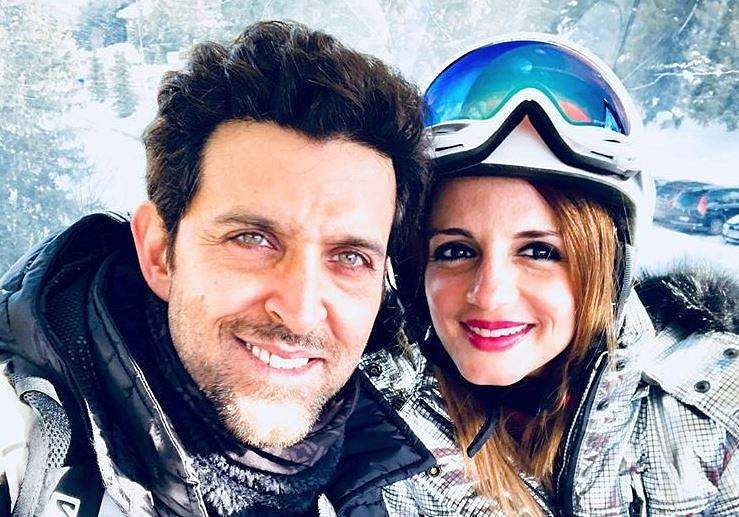 Actor Hrithik Roshan with his former wife Sussanne Khan