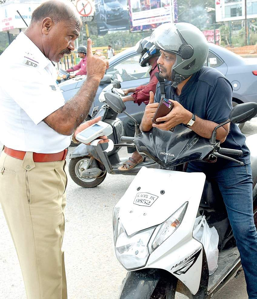 Image result for latest images of traffic fines in Bengaluru