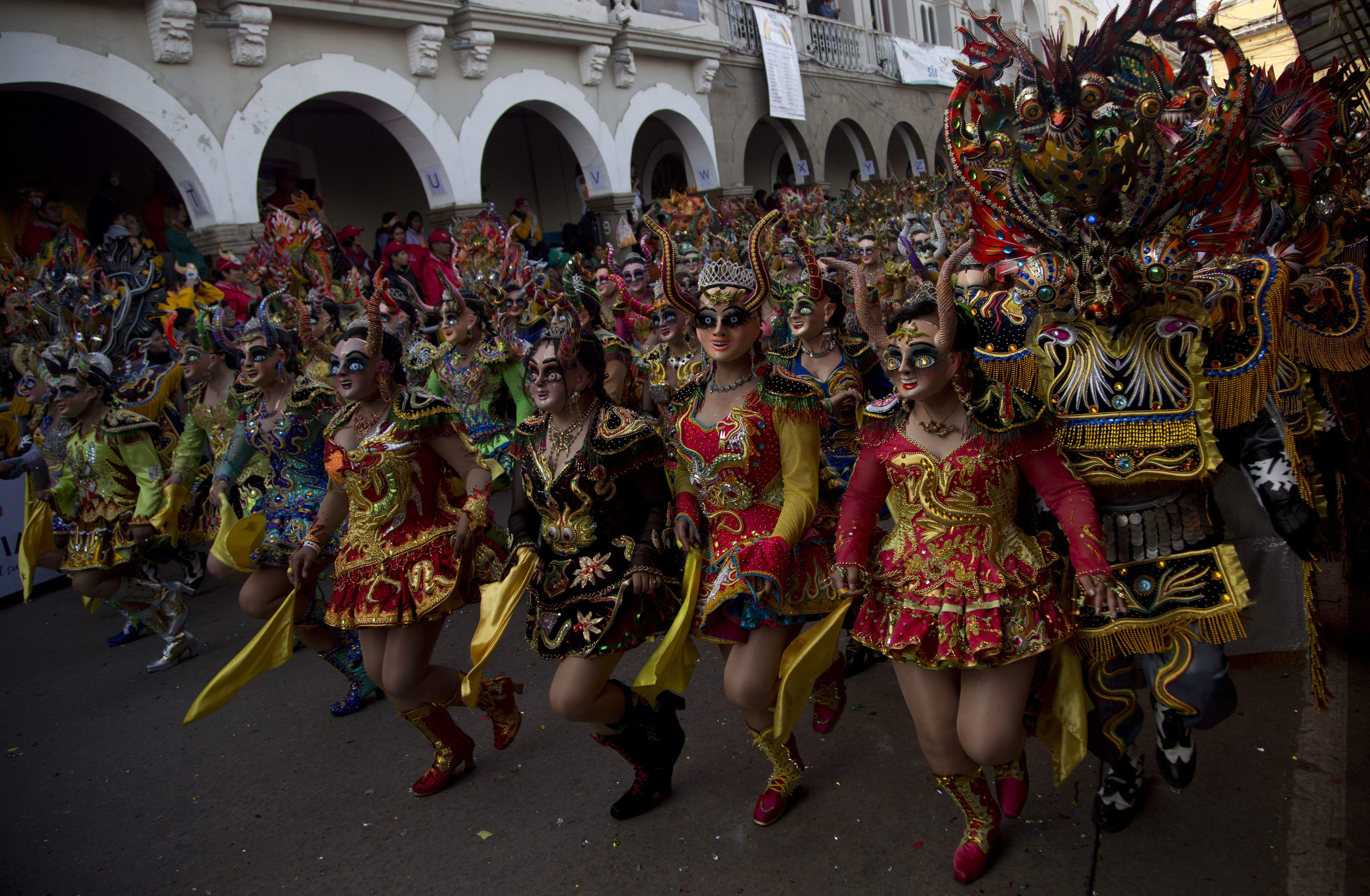 Dancers perform the traditional