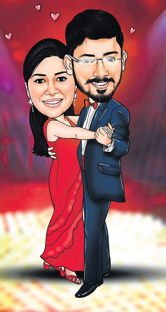 Couples in caricature for the love of a good laugh- The New Indian ...