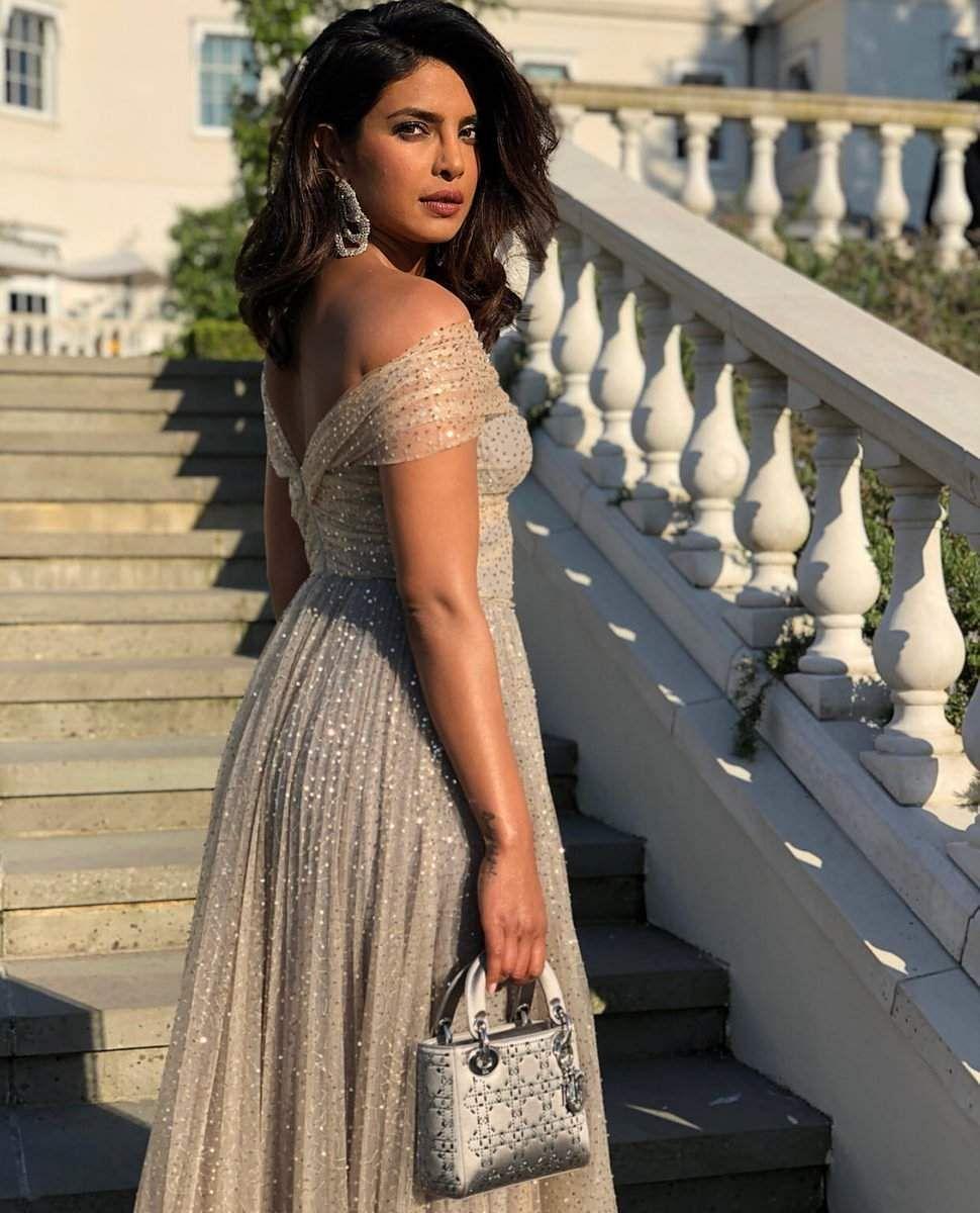 Priyanka Wedding White Gown: Priyanka Chopra Looks Like A Dream In Golden Dior At