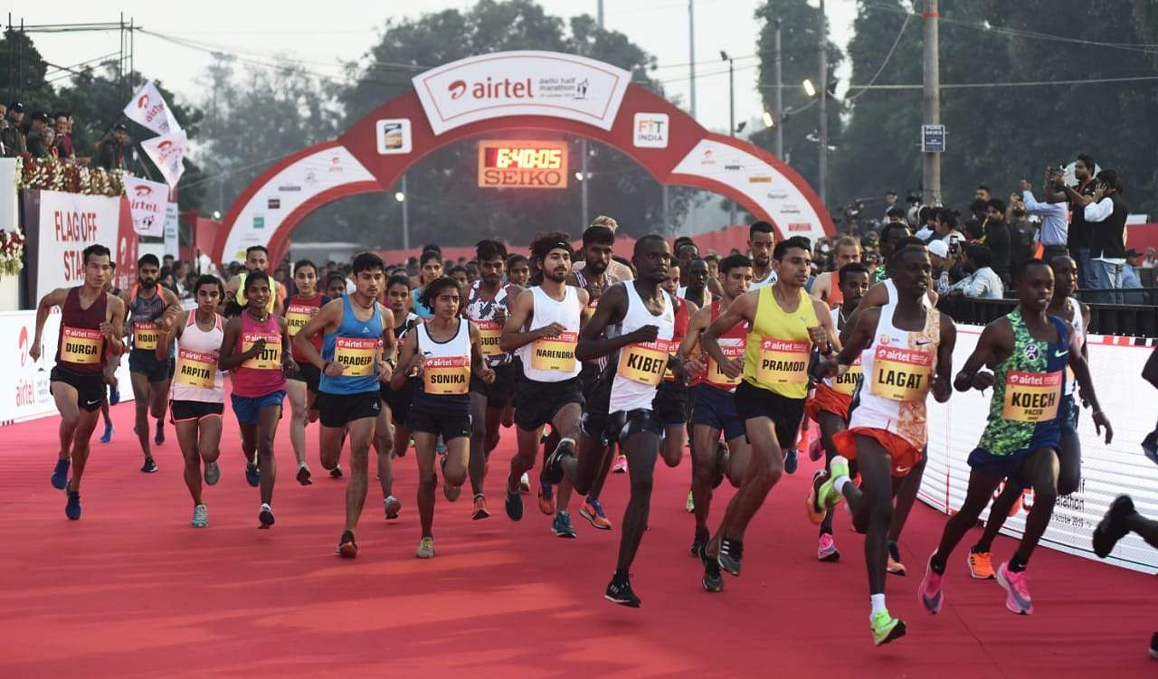 Image result for images of The Airtel Delhi Half Marathon