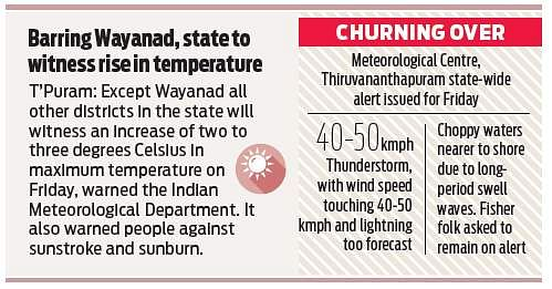 Met issues rough sea alert- The New Indian Express