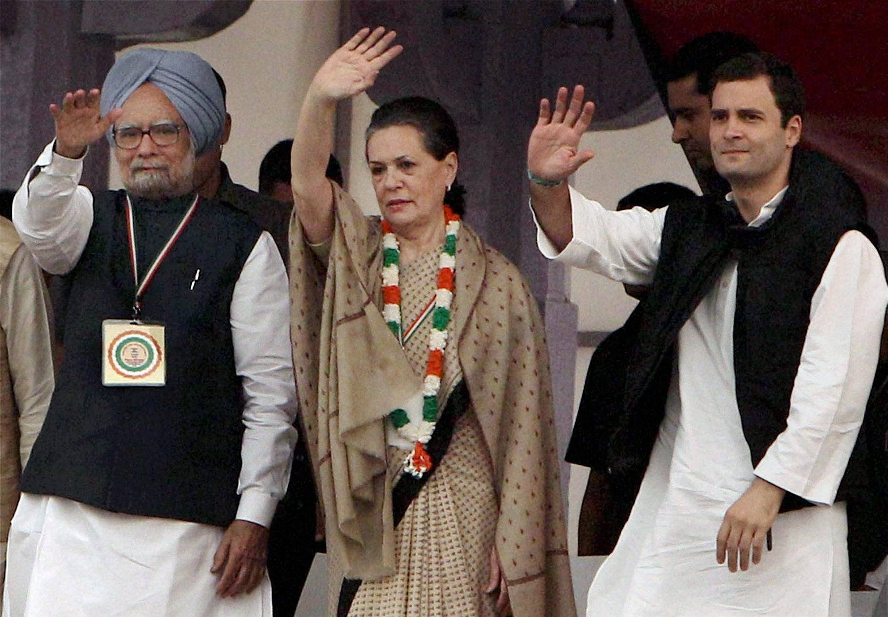 Manmohan_Sonia_Rahul_PTI