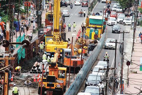 Kochi-Metro-Rail-work