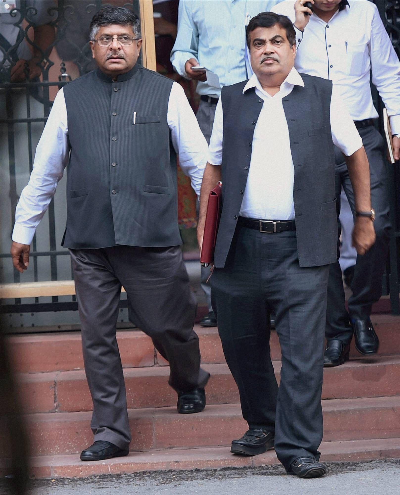 Ravishankarprasad_NitinGadkari_PTI