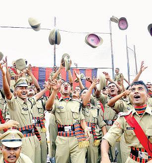 Cadets-celebrating