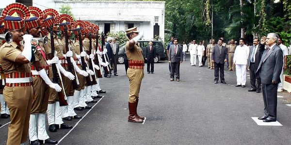 CJI T S Thakur receives guard of honour at TN state judicial academy in Chennai on Saturday. | EPS