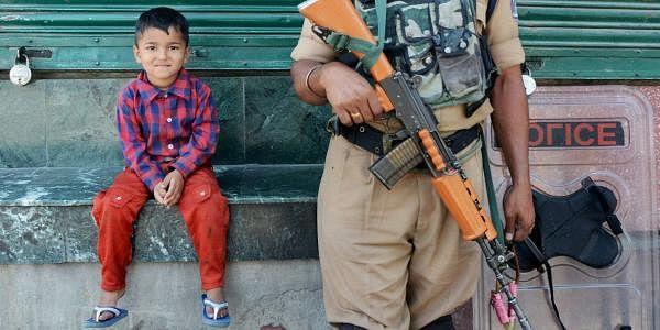 Kashmir unrest irony PTI