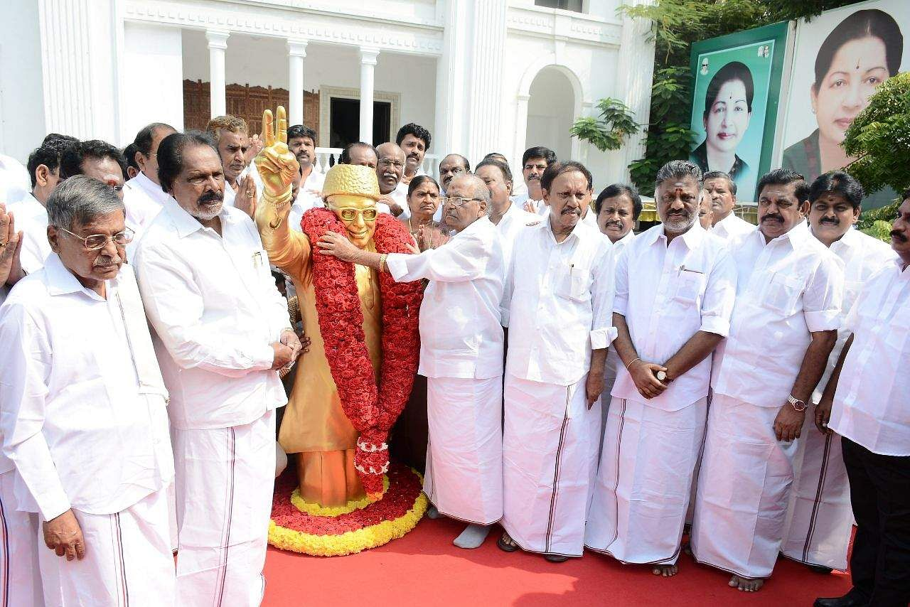 No cheer or cracker as AIADMK observes foundation day in