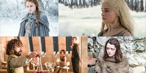 Sansa, Daenerys,Tyrion and Arya in the new photos released from the Season 6 of Game of Thrones