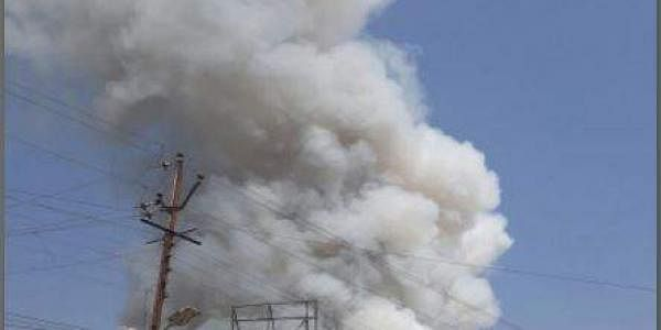 Smoke fills the air in Aurangabad due to the fire mishap