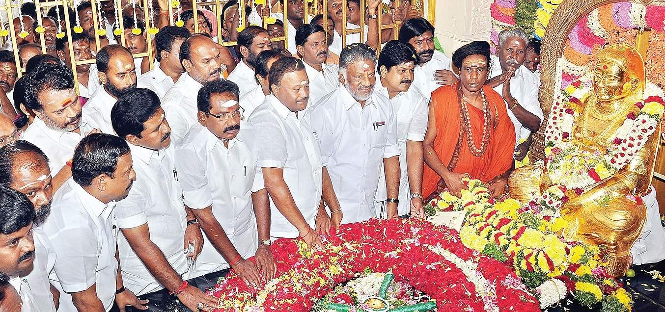 Image result for Political leaders pay homage to Muthuramalinga Thevar, Chief Minister Edappadi K