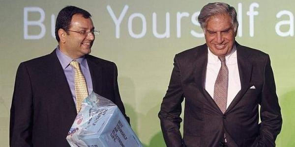 Tata Group interim chairman Ratan Tata with Cyrus Mistry. (File photo | Reuters)