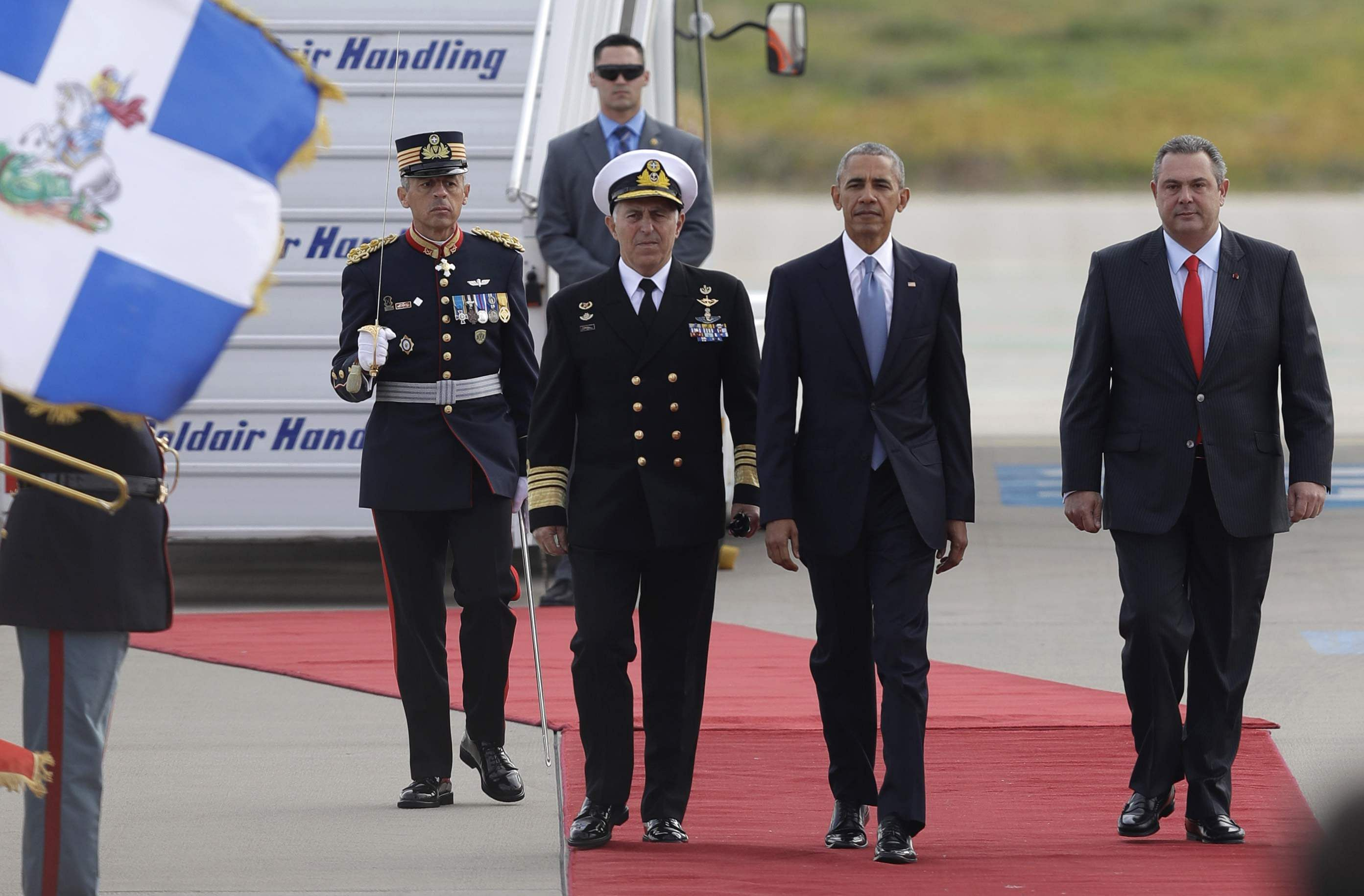 In Greece, Obama tries to reassure NATO allies