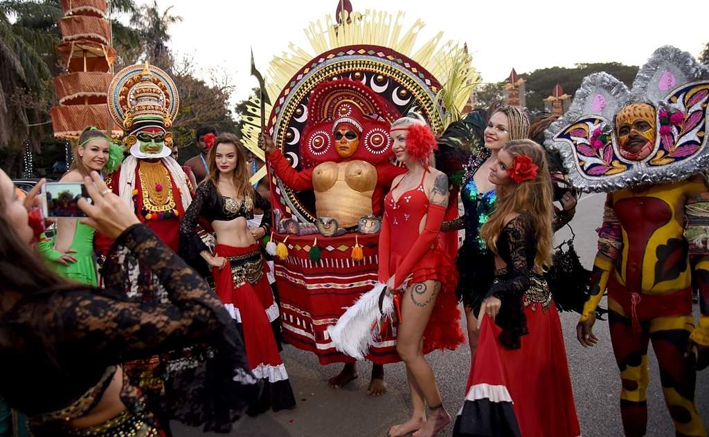 Check out the rs 550 crore extravagant reddy wedding in bengaluru the wedding procession included several performers and artistes who were brought in to entertain the guests nagaraja gadekaleps junglespirit Images