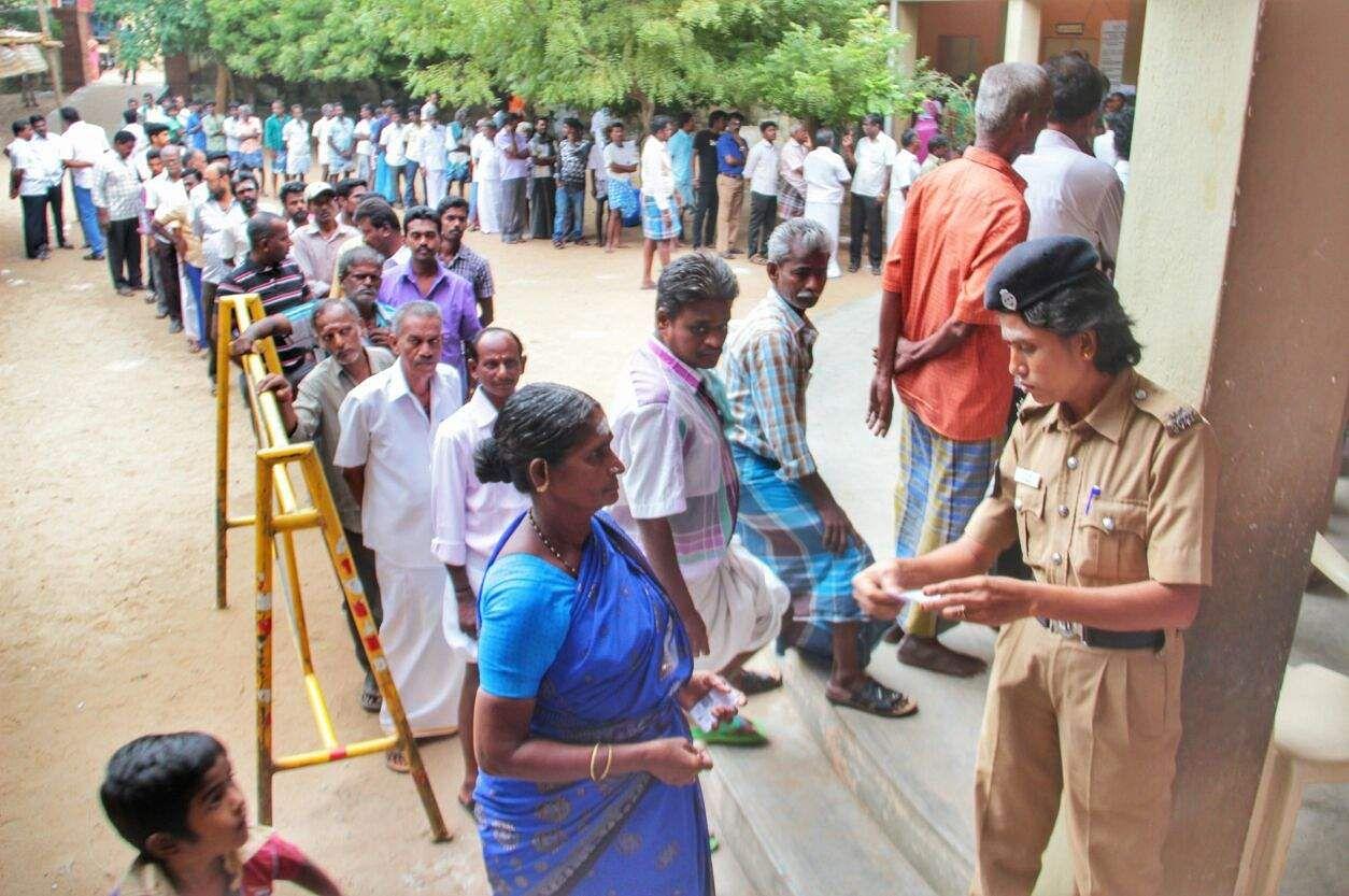 Citizens vote in Tamil Nadu, Puducherry bypoll elections