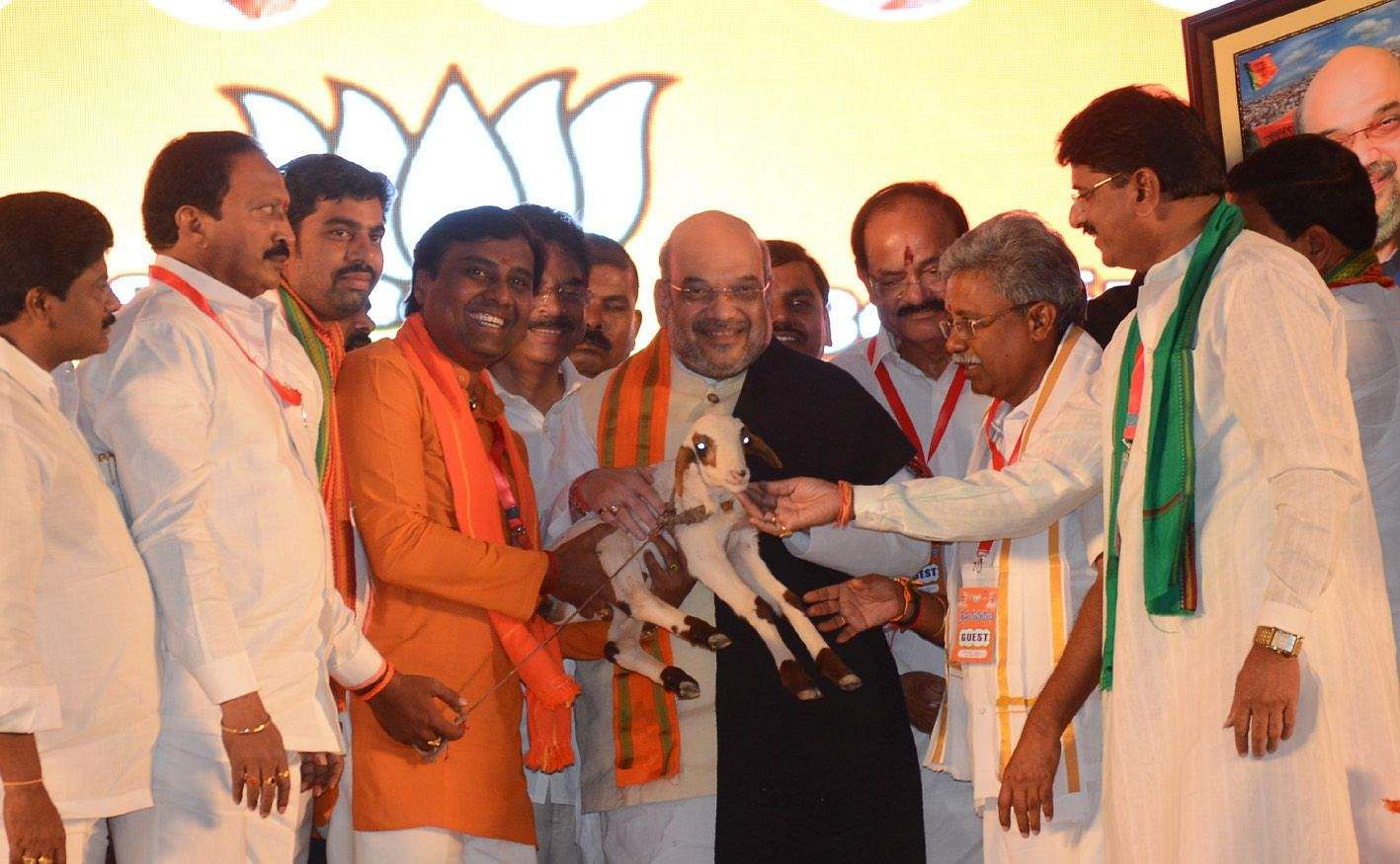 Amit Shah in city, BJP's 'Maha Samavesh' begins