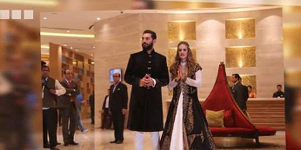 Yuvraj, Hazel Keech walk down the aisle