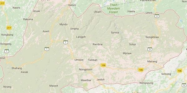 Khasi Hill-Google Map