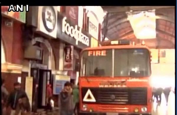 Fire which broke out in a food plaza at Howrah station has now been doused | ANI