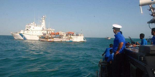 Tamil Nadu trawlers being intercepted by the Sri Lankan navy in Sri Lankan waters. (File Photo)