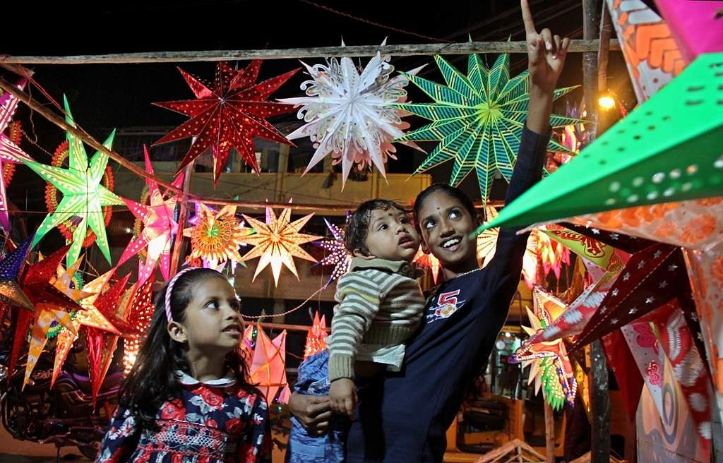 India gears up to welcome santa claus for christmas the - Buy christmas decorations online india ...