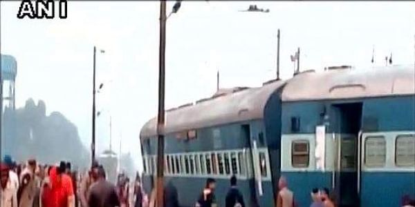 Several injured after about 15 coaches of Ajmer Saeldah Express derail near Kanpur's Roora. | ANI