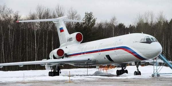 This photo taken on January 15, 2015 shows the Tu-154 plane with registration number RA-85572 at Chkalovsky military airport near Moscow. (Photo | AP)