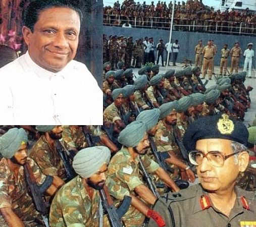 IPKF soldiers getting back to India. Insets show President R.Premadasa and Lt.Gen. A.S.Kalkat , the last commander of the IPKF-EPS.jpg