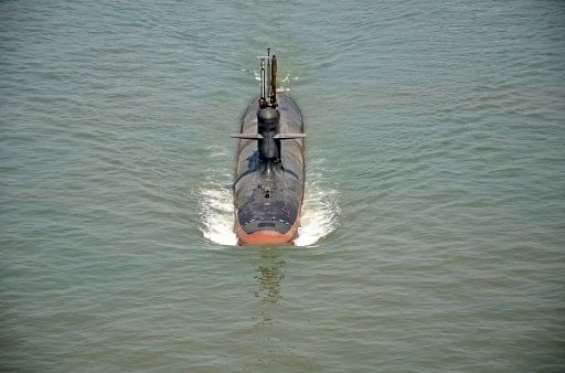 Indian Navy launches second Scorpene submarine 'Khanderi'