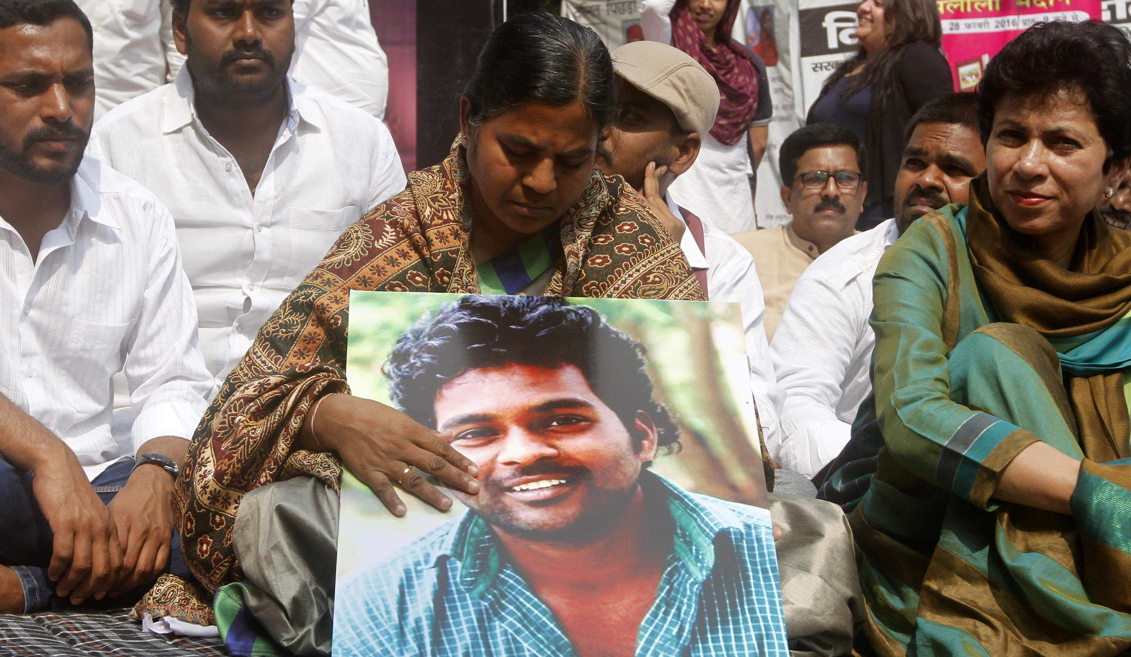 On Rohit Vemula's death anniversary, cops detain his mother from HCU premises