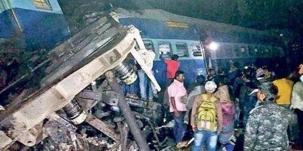 One of the bogies of Hirakhand Express that derailed near Kuneru in Andhra Pradesh on Saturday night | Express