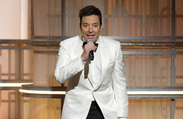 Jimmy Fallon, host of the 74th Annual Golden Globe Awards at Beverly Hilton Hotel in Beverly Hills, California. | AP