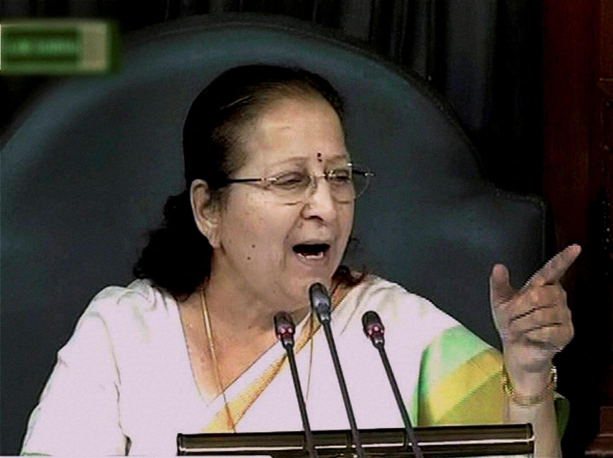 Sumitra Mahajan to attend special parliamentary session in ...