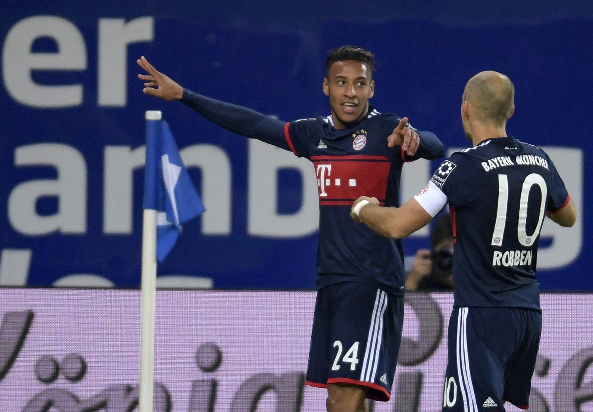 Bayern Munich edge past Hamburg to go level with Borussia Dortmund