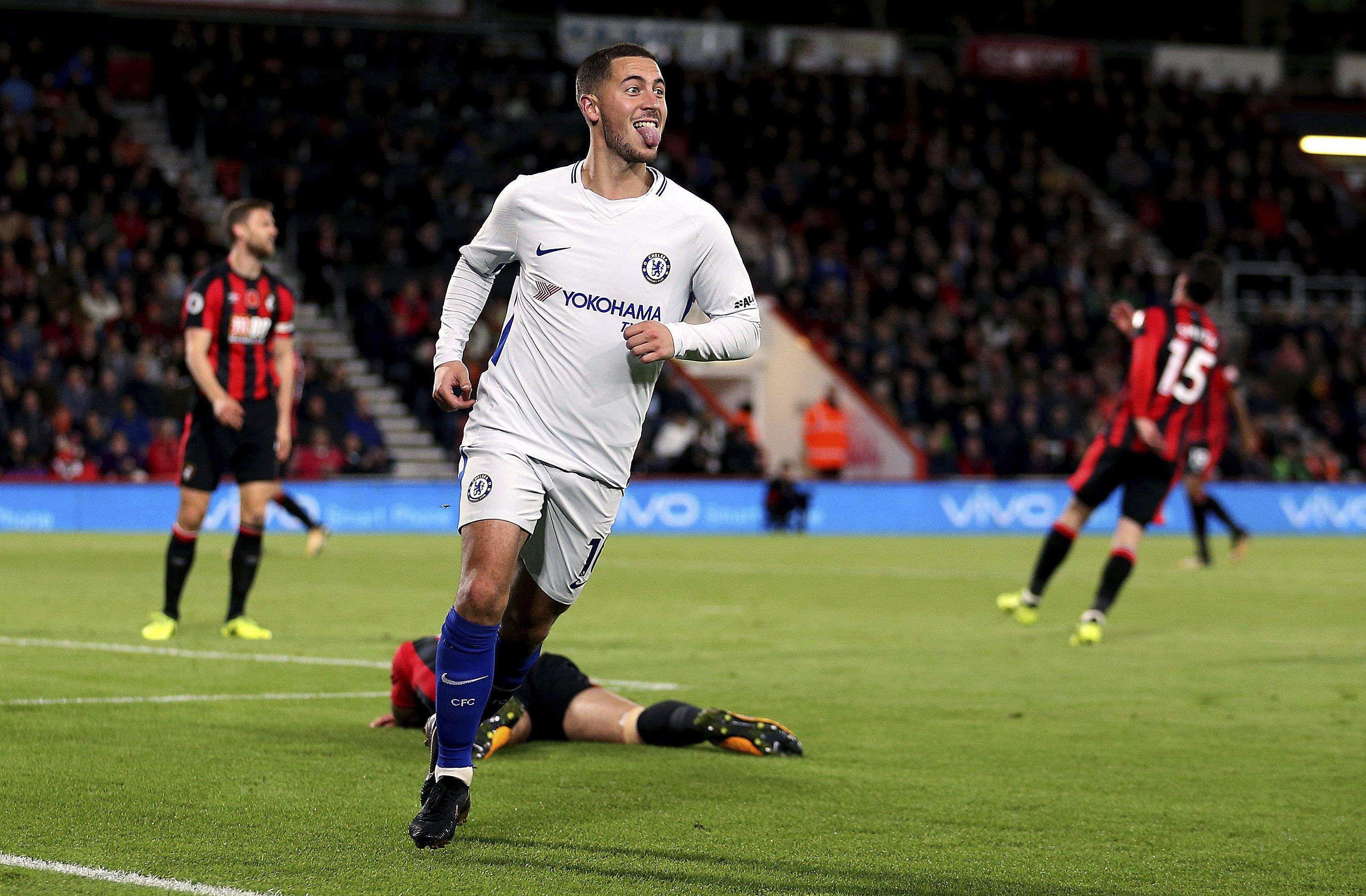 Eden Hazard scores winner as Chelsea wins at Bournemouth in EPL