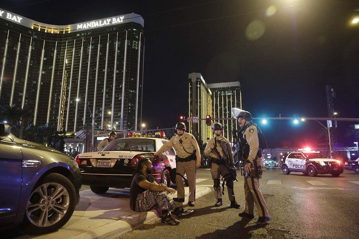 Image result for Las Vegas shooter stockpiled 42 weapons in his home, hotel
