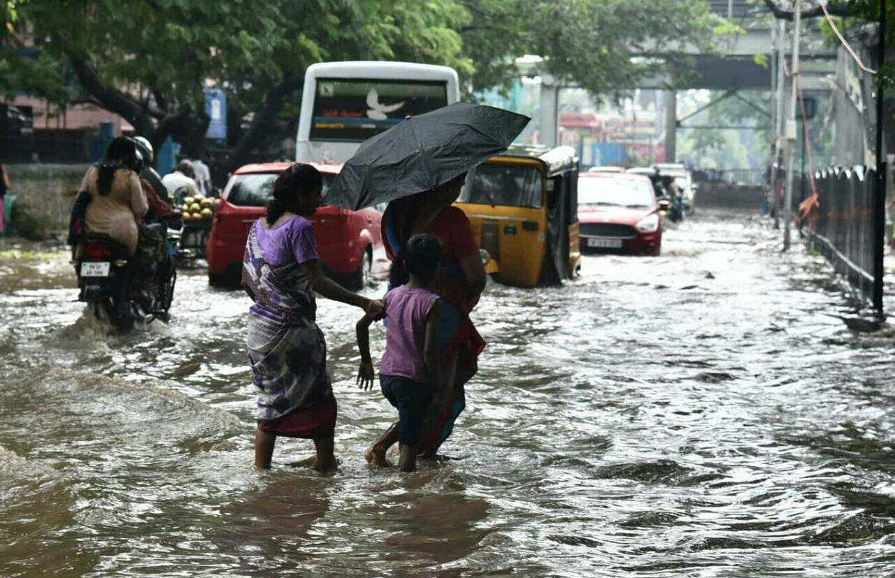 Nine coastal districts in TN including Chennai face heavy rainfall