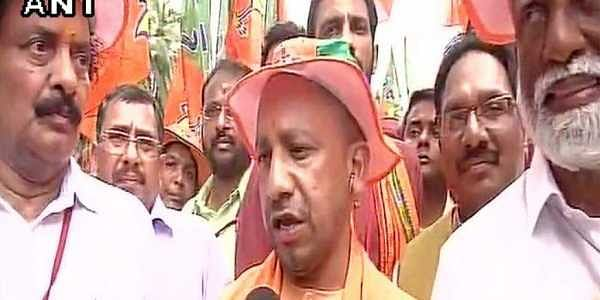Yogi Adityanath marched in Kerala to voice his protest against the CPI(M) allegedly targeting BJP workers in the state.   ANI