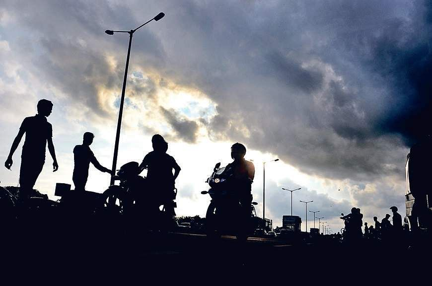 Dark clouds cover the skyline of Bhubaneswar on Sunday | biswanath swain