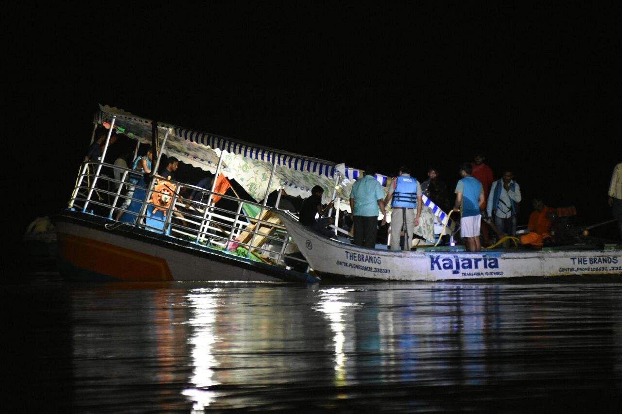 Image result for boat capsizes in Krishna river
